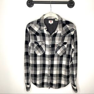 Levi's Western Button Down Pearl Snap Buttons soft